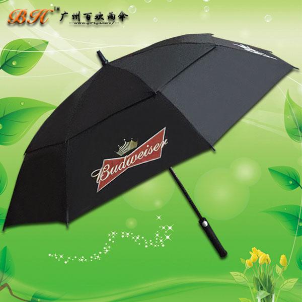 【双层高尔夫伞】定制-百威双层高尔夫伞 长柄伞 加固抗风伞 高尔夫伞厂