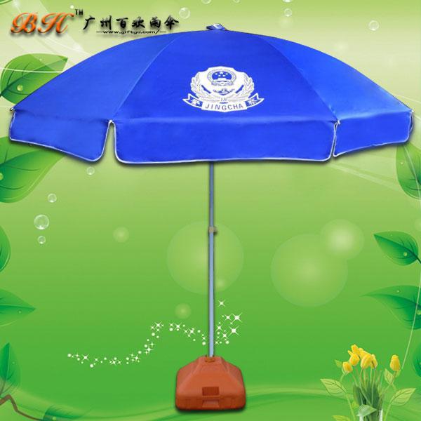 【广告伞厂家】定制-公安执勤伞 警务人员值班太阳伞 遮阳伞