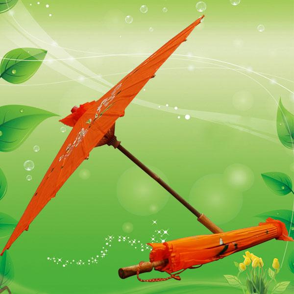 工艺油纸雨伞 舞台道具演出雨伞 广告雨伞 竹节工艺油布雨伞