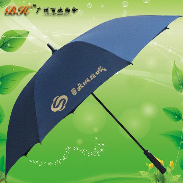鹤山雨伞厂 加工-鹤山云湖花城广告伞 纤维骨直杆伞 雨伞广告